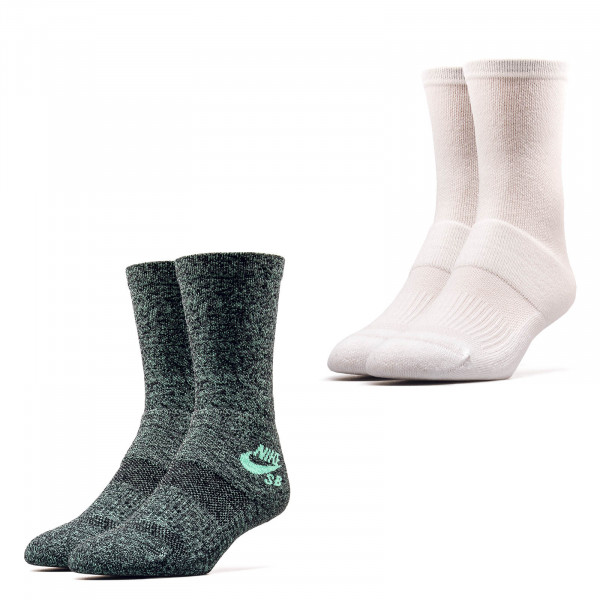 Nike SB Socks 2 Pack 6855 White Green