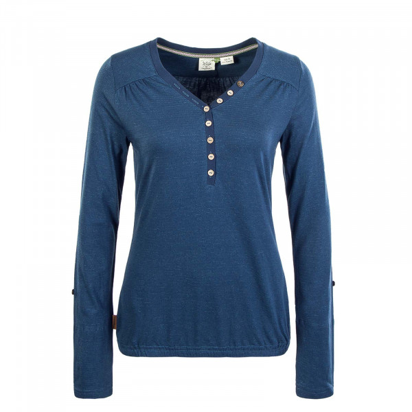 Damen Longsleeve Pinch Organic Denim Blue