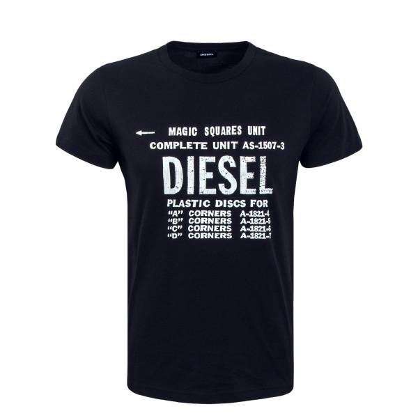 Herren T-Shirt Diego B6 Black White