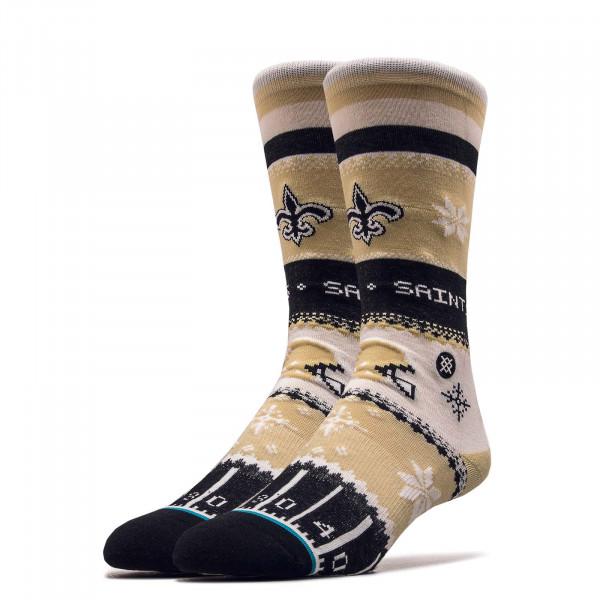 Socken NFL Saints Holiday Gold Black