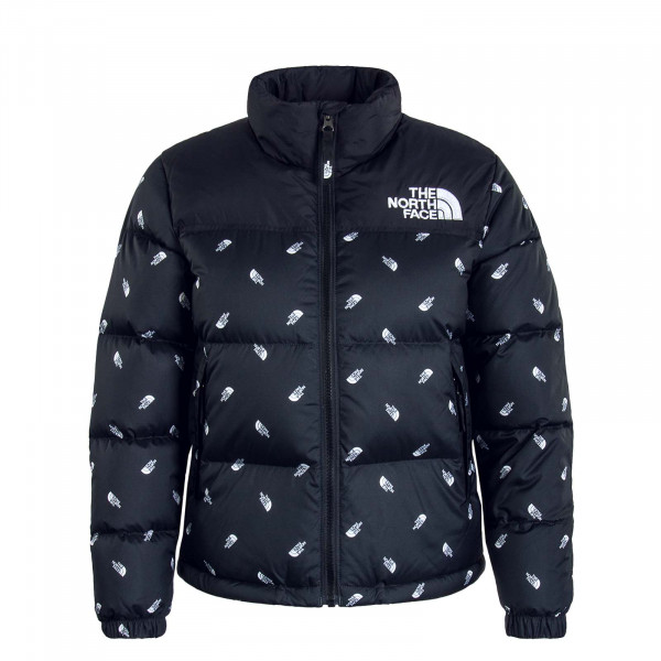 Kinder Daunenjacke Retro Nuptse Black Whitte