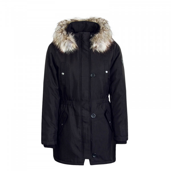 Damen Mantel Iris Fur Black