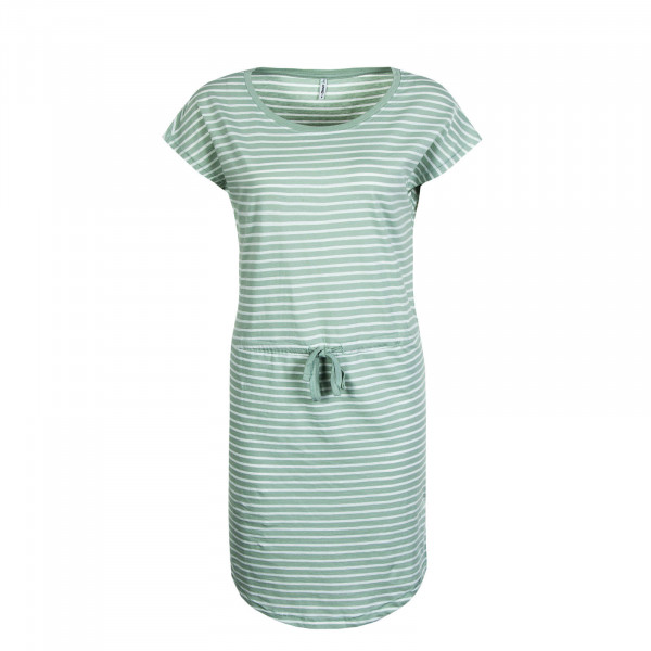 Kleid May Stripe Light Green White