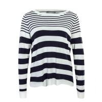 Only Knit Mila Stripe Beige Navy