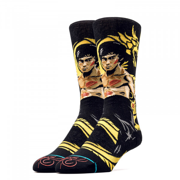 Stance Socks Dragon Bruce Lee Black Yell