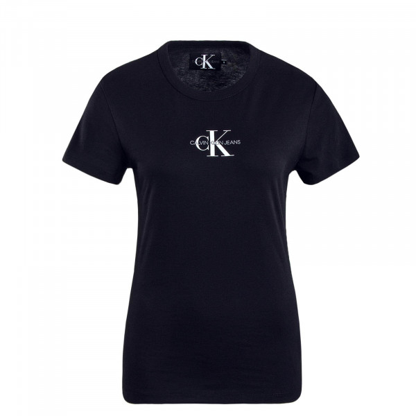 Damen T-Shirt Monogram Slim Black