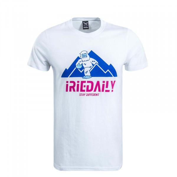 Herren T-Shirt Stay Yeti White Pink