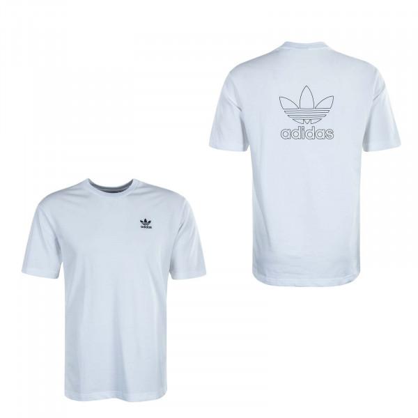 Herren T-Shirt B+F Trefoil GE0825 White Black
