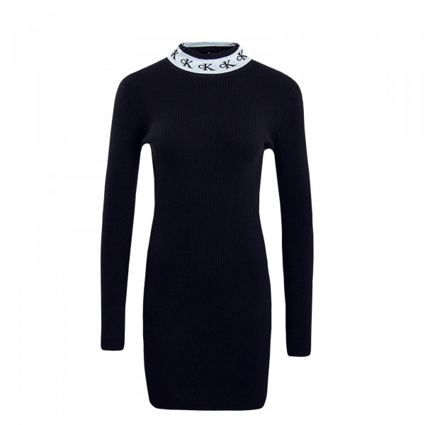 Damen Kleid Mono Tape Sweater Black