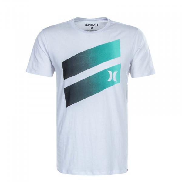 Herren T-Shirt Icon Slash Gradient White