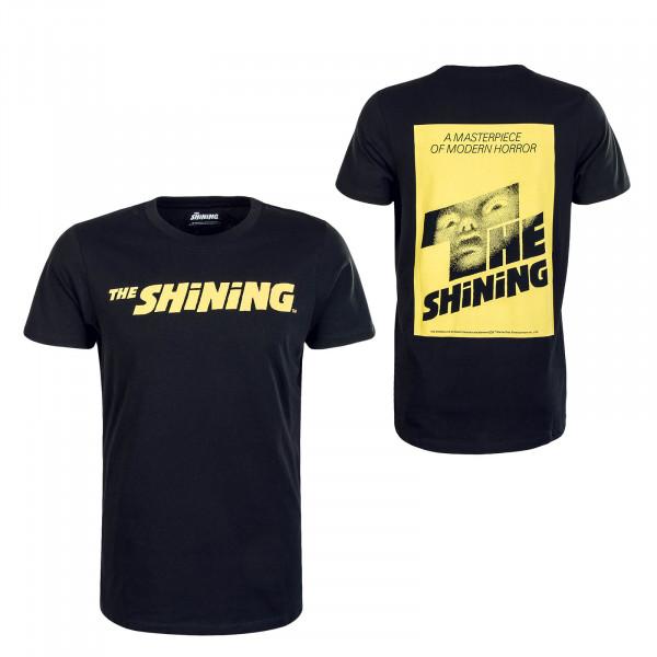 Herren T-Shirt Shinning Black Yellow