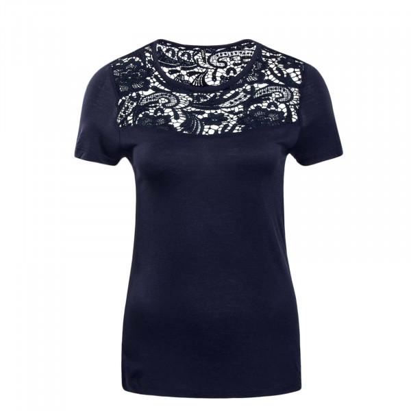 Damen T-Shirt Laiba Crochet Navy