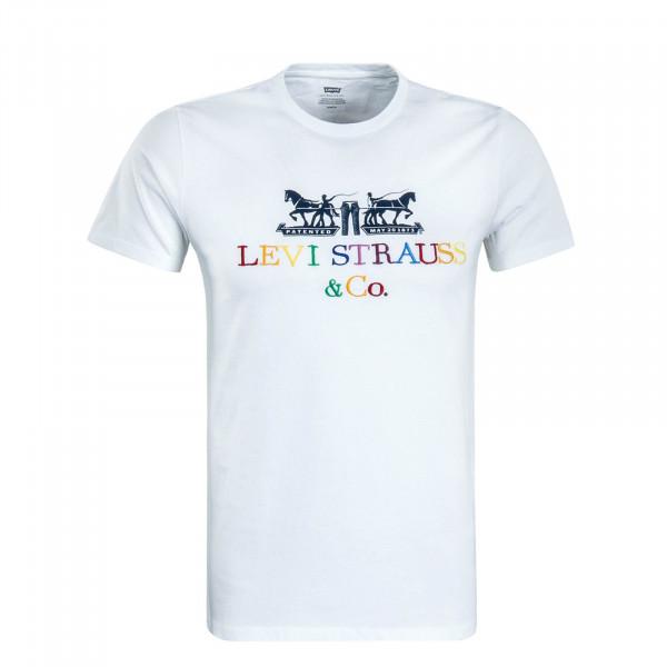 Herren T-Shirt 2 Horse Graphic White Multi