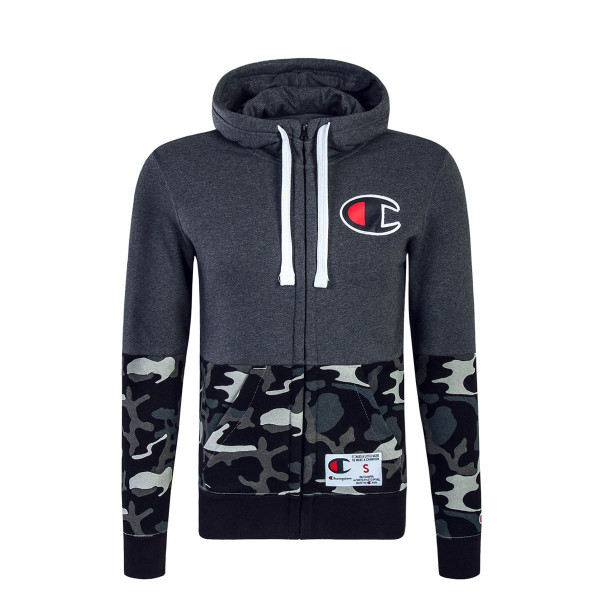 Champion Full Zip Sweatjacke Grey Camouflage