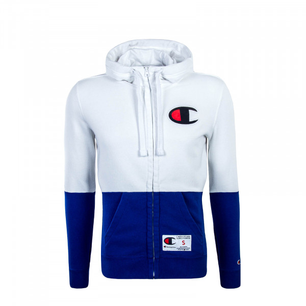 Champion Full Zip Sweatjacket White Blue
