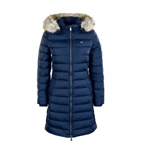 Damen Mantel Essential Hooded 9060 Twilight Navy