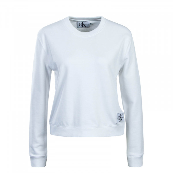 Damen Sweatshirt Boxy CN Monogram White