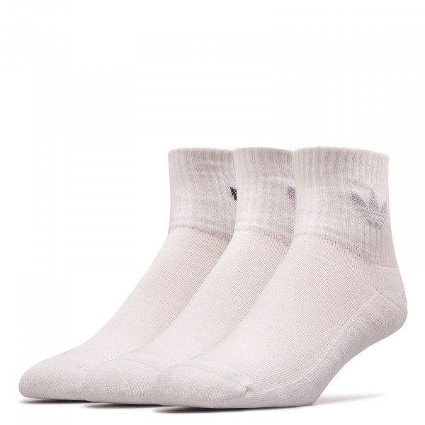 Socken 3er-Pack 0713 Mid Cut White