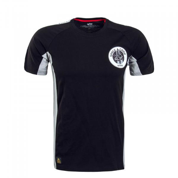 Herren T-Shirt Space Camp Black