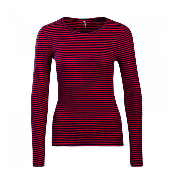 Only LS Tina Stripe Pink Blue