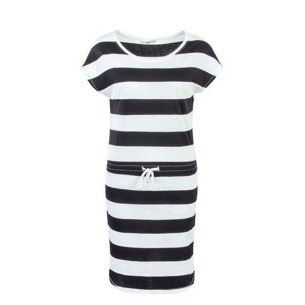 Only Dress May Beige Black Stripe