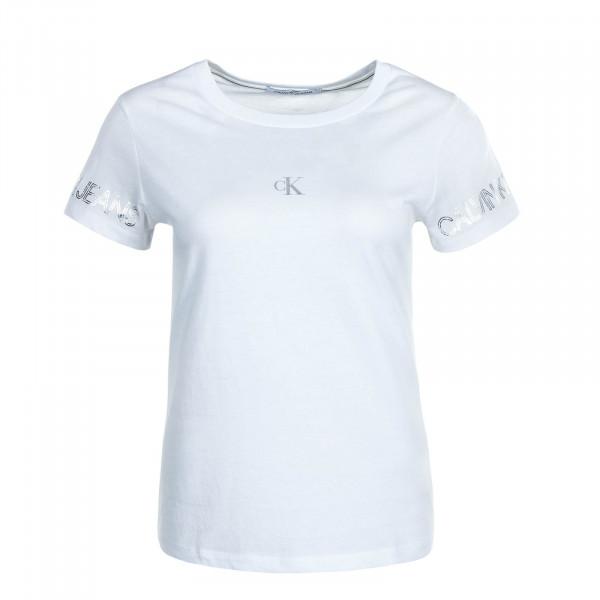 Damen T-Shirt Outline W Logo 4770 Bright White