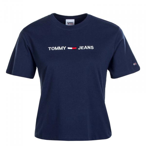 Damen T-Shirt Modern Linear Logo 8615 Navy