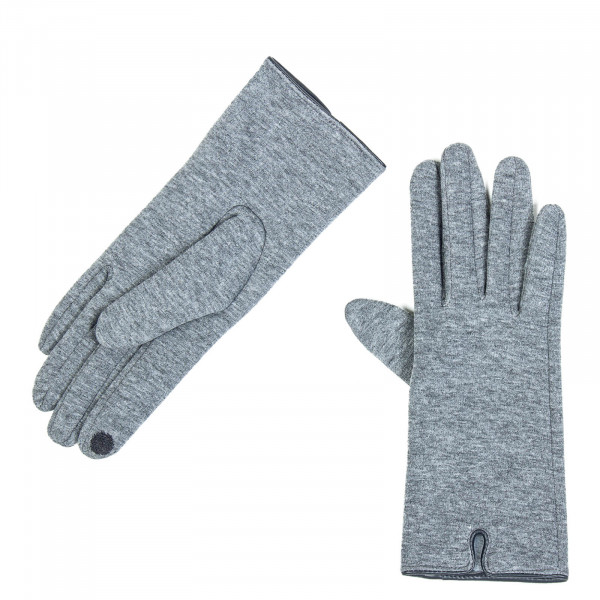 Damen Handschuhe Jessica Jersey  Dark Grey Melange