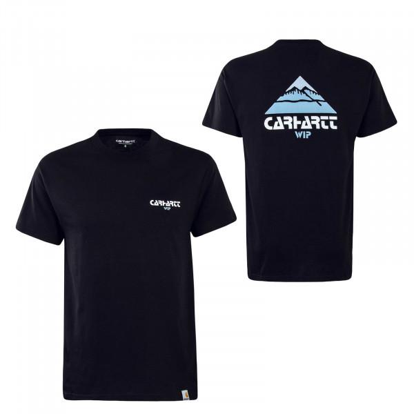 Herren T-Shirt Mountain Black Blue