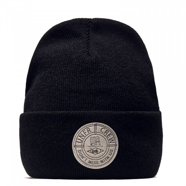 Beanie DMWU Badge Black Grey