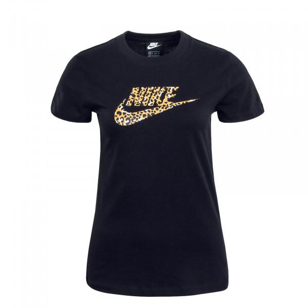 Damen T-Shirt NSW SS LA Black Animal Print