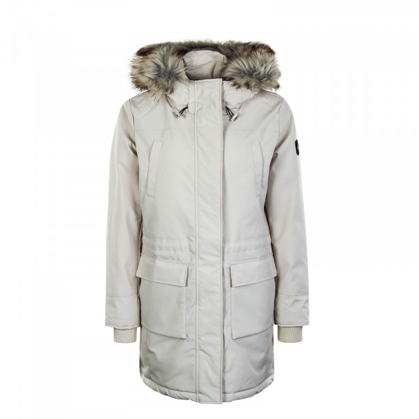 Damenmantel New Sally Long Coat Moonbeam