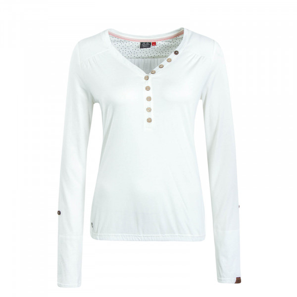 Damen Longsleeve Pinch Solid White