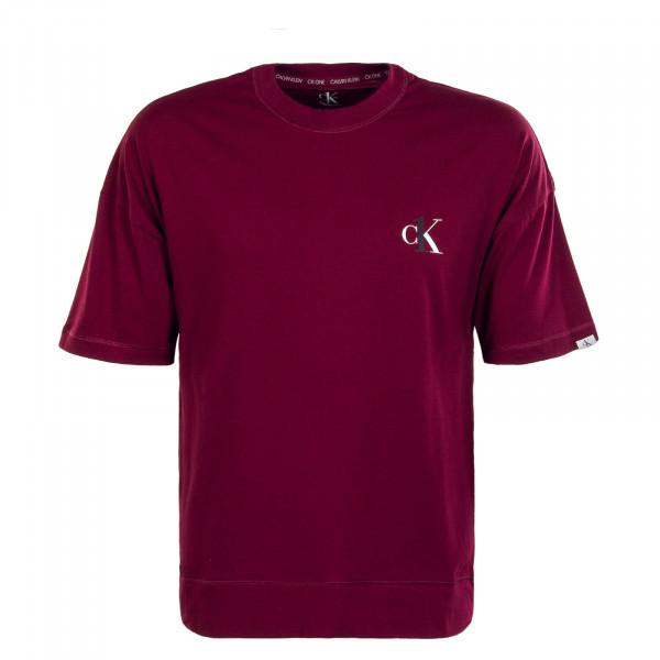 Herren T-Shirt Crew Neck 1793E Lush Burgundy