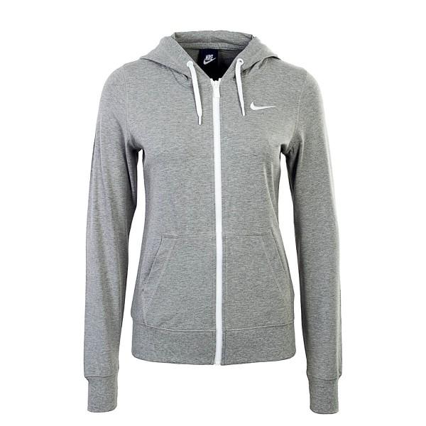Nike Wmn Sweatjkt NSW Hoodie FZ Grey Wht