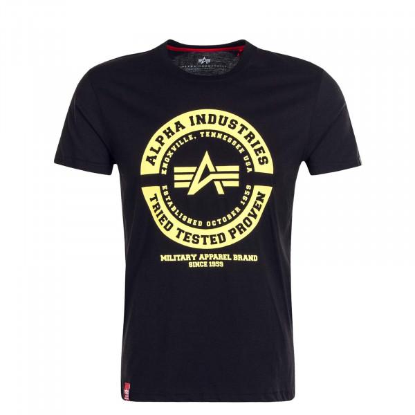 Herren T-Shirt TTP T Black Yellow