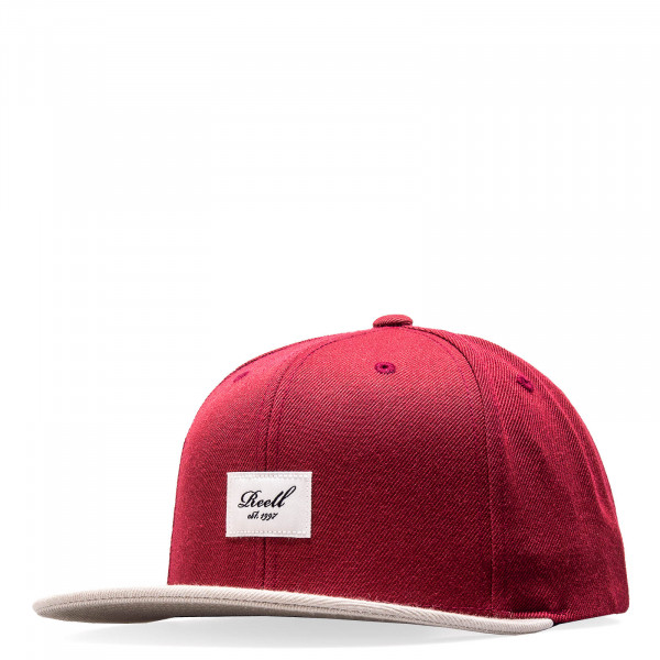 Reell Cap Pitchout 6Panel Maroon Grey