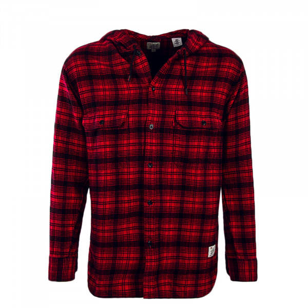 Levis Hemd Hodded Worker JustinT Red Blk