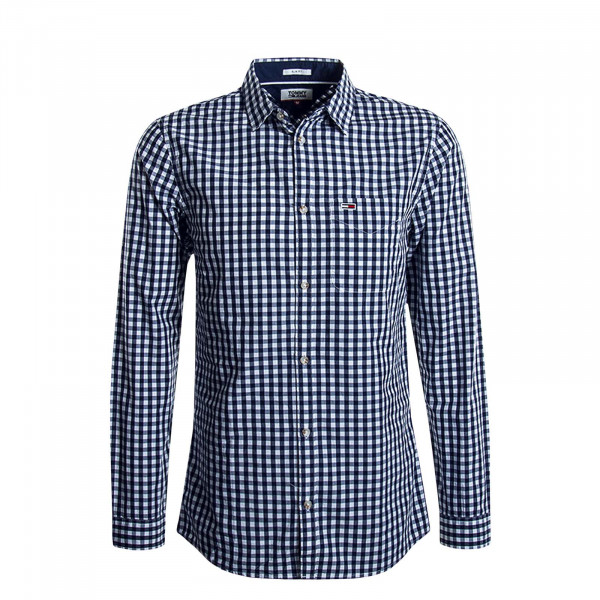 Herrenhemd Overdye Navy White Check