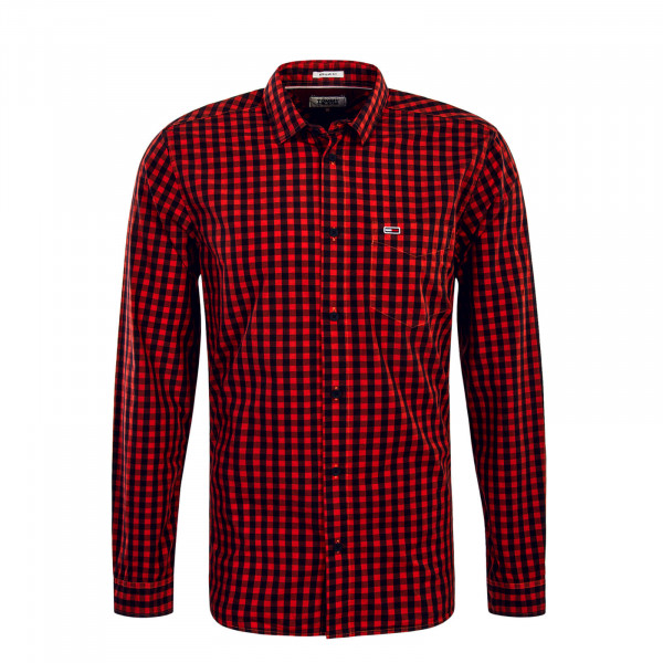 Herren Hemd  TJM Gingham Red Black