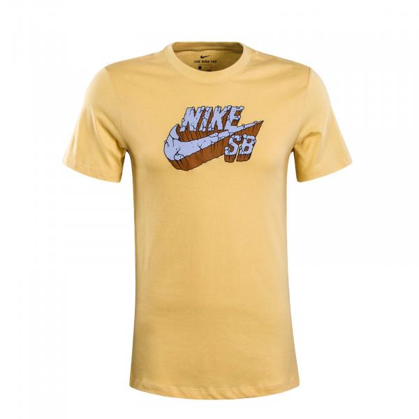 Herren T-Shirt Logo Concrete Yellow