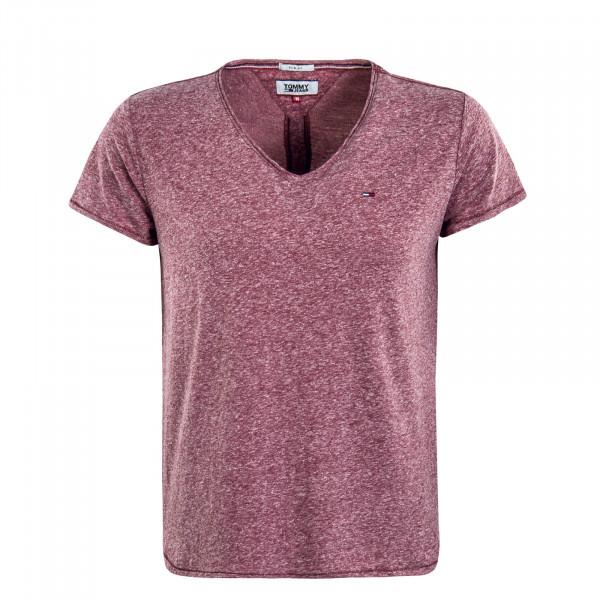 Herren T-Shirt TJM Basic Bordeaux Melange