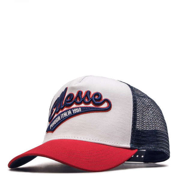 Cap Trucker Track White Navy Red