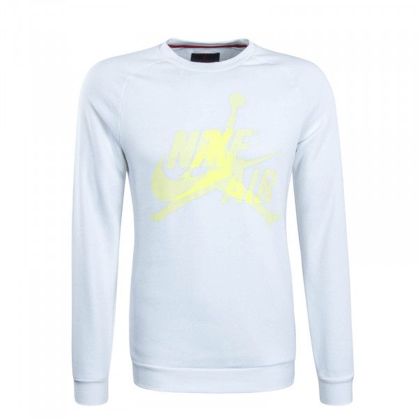 Herren Sweatshirt Jumpman White Yellow Neon