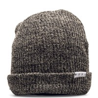 Neff Beanie Fold Heather BrowTwill Black