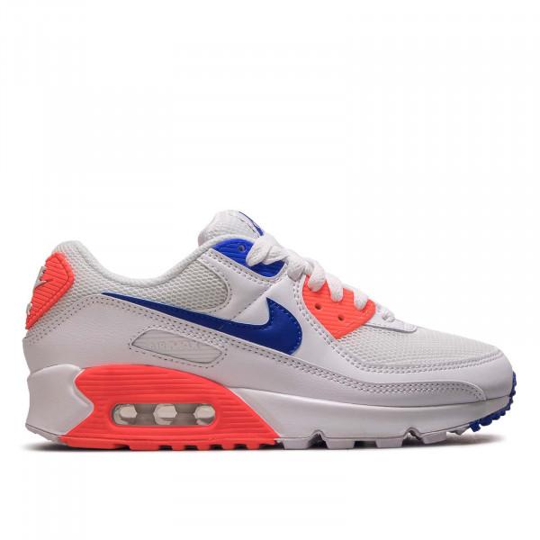 Damen Sneaker Air Max 90 White Racer Blue Crimson