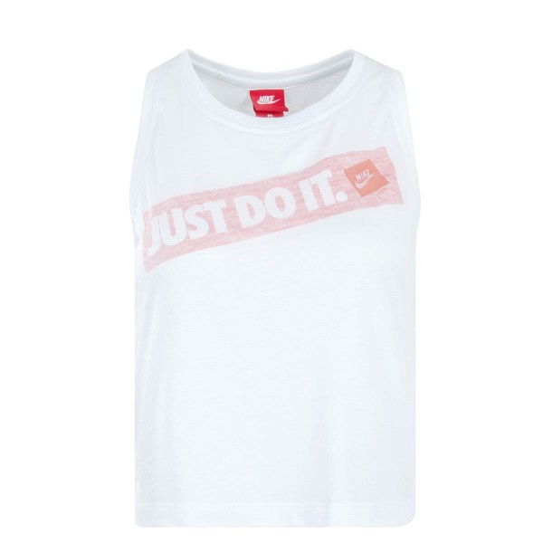 Nike Wmn Top Print White Red Mel