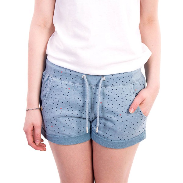 Ragwear Wmn Short Norah Dots Dusty Blue