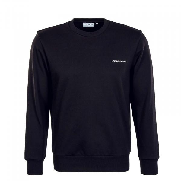 Herren Sweatshirt - Script Embroidery - Black / White