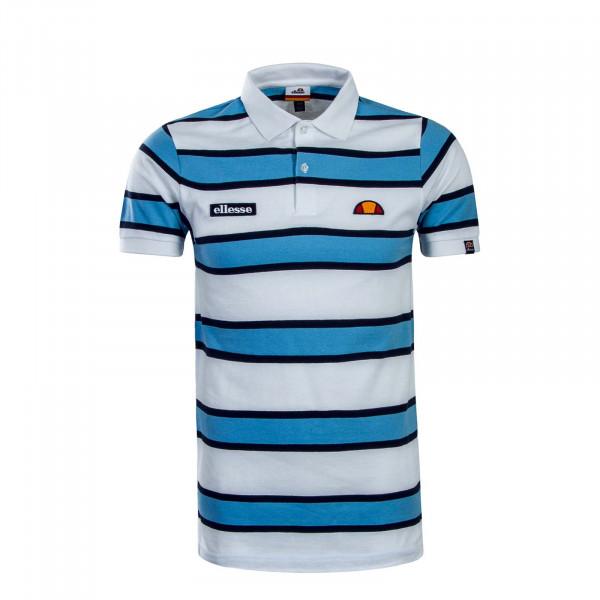 Ellesse Polo Marono Stripe White Blue